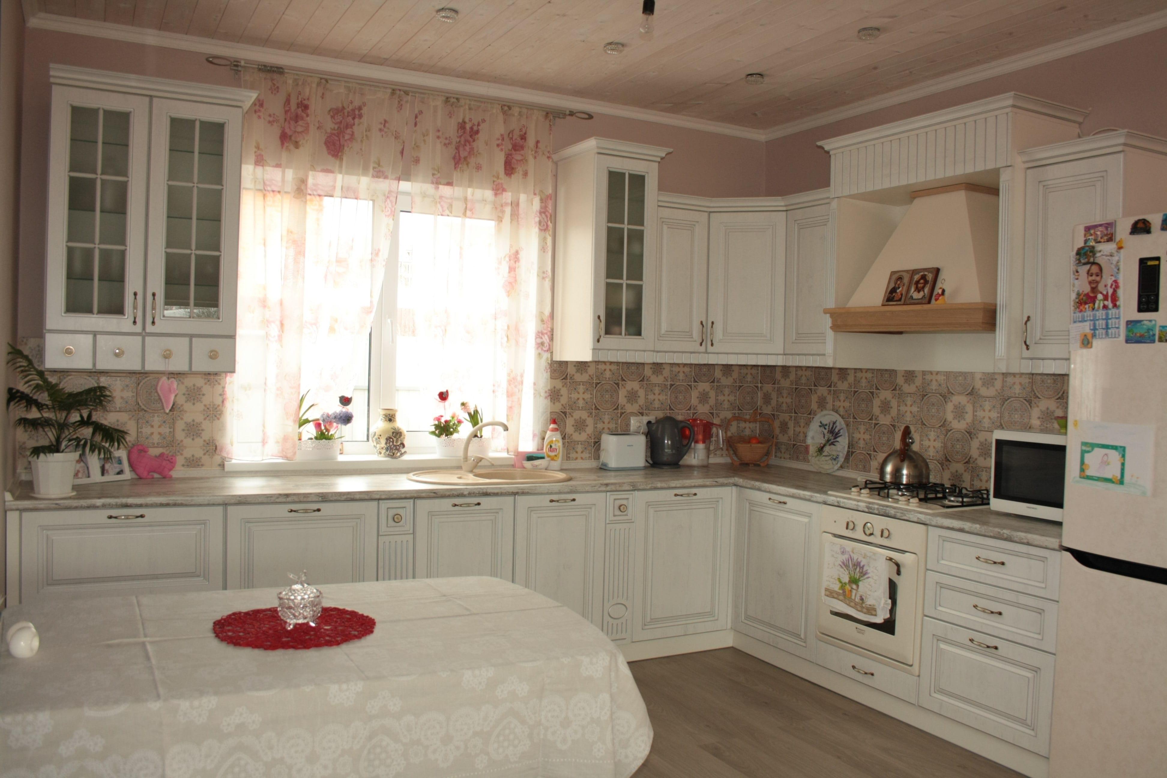 Кухня Прованс фасады патина серебро