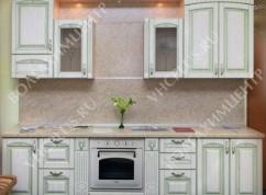 Кухня с зеленой патиной
