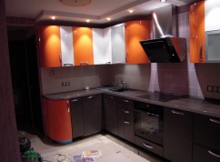 Кухня угловая Комби цвета