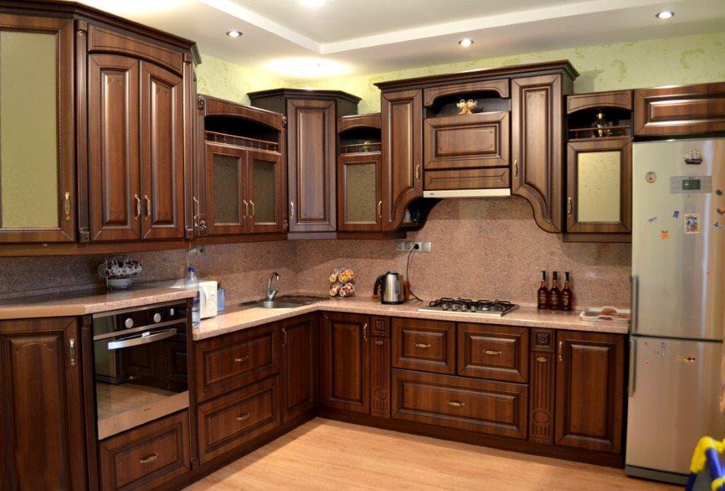 Кухня Рябина с коричневой патиной