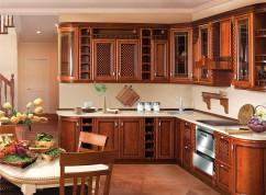 Кухня угловая груша с патиной