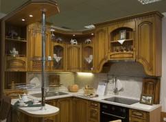 Кухня классика с барной стойкой