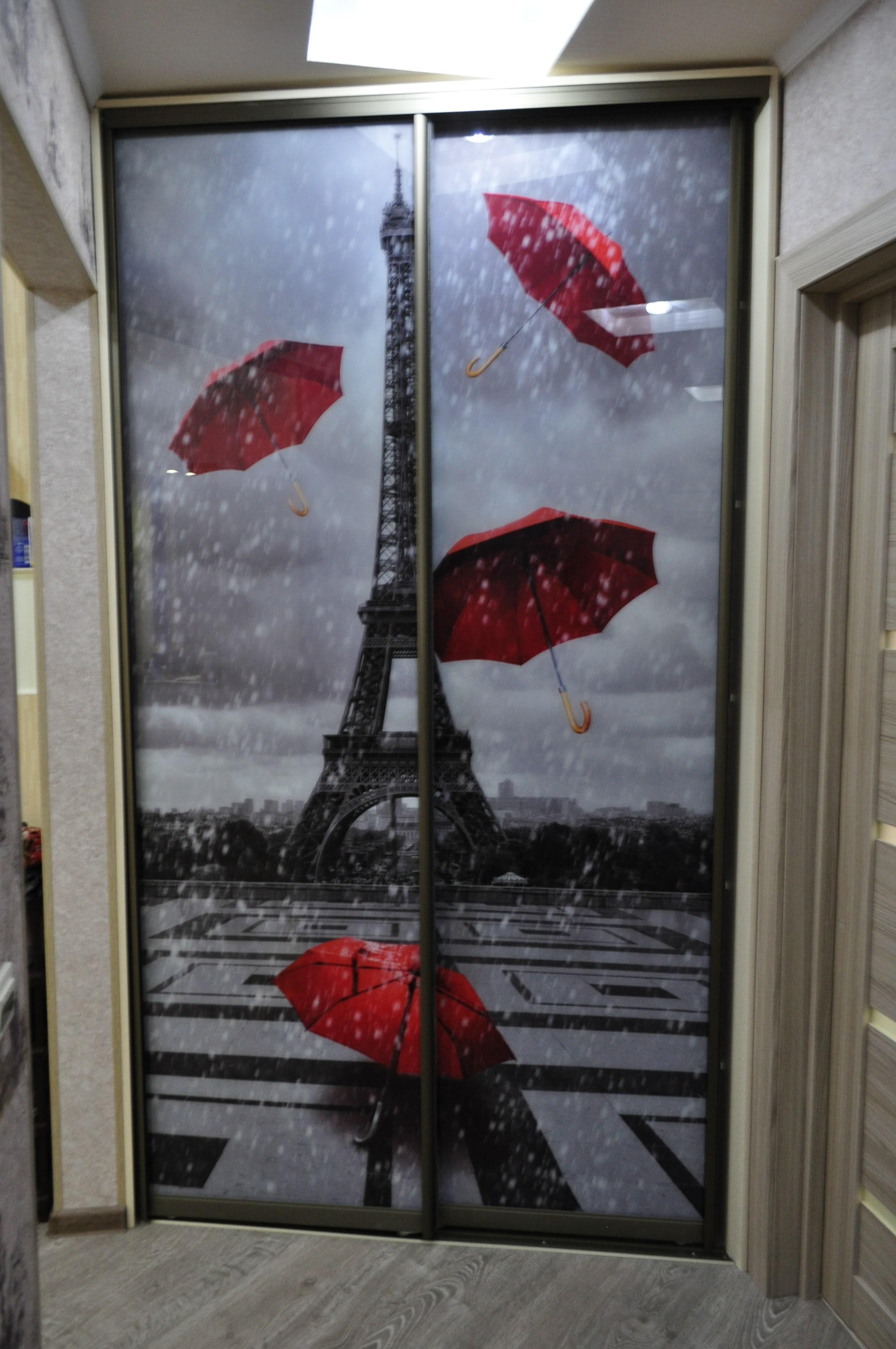 Шкаф-купе рисунок фотопечать Франция