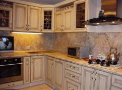 Кухня ясень с патиной