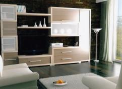 Мебель для гостиной с фасадами МДФ