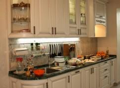 Кухня радиусные фасады белая классическая