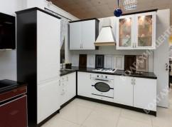 Кухня угловая темный корпус