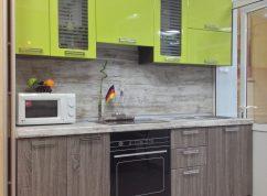 Кухня комби зеленый и дуб