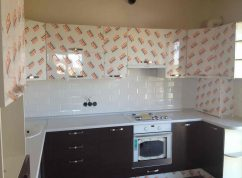 Кухня угловая с фасадами пластик