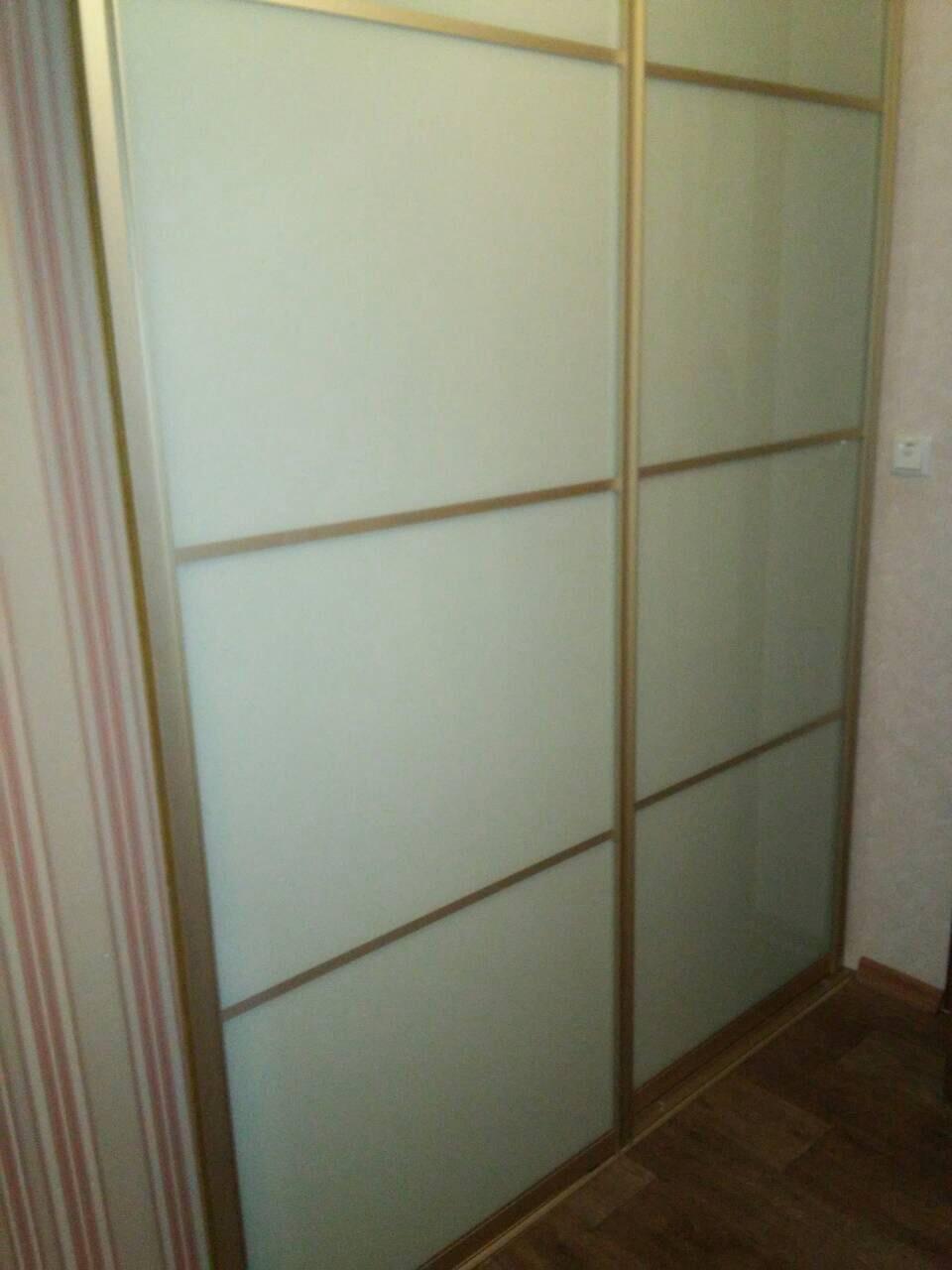 Двери купе крашенное стекло (перегородка)