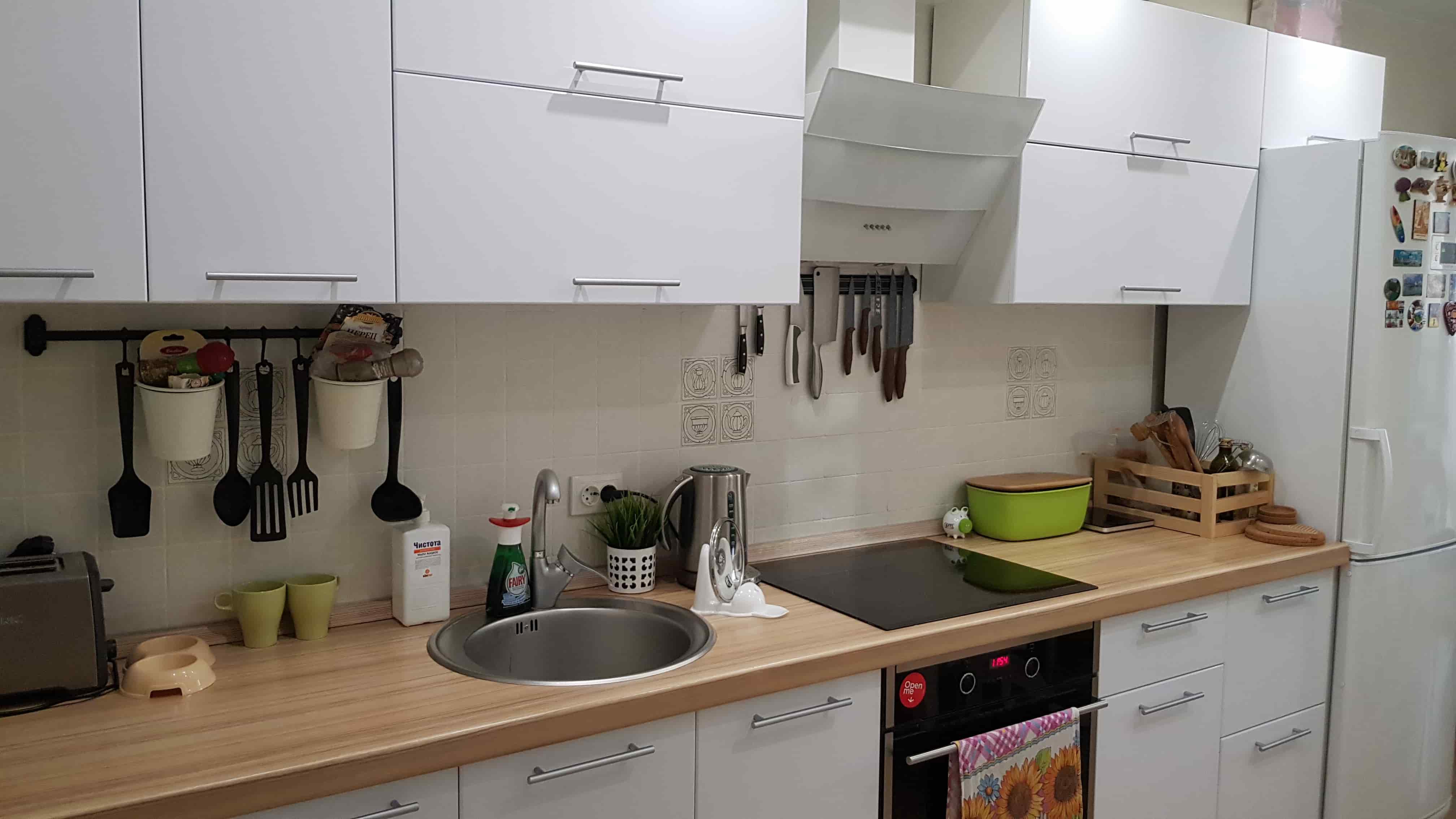 Кухня МДФ белая