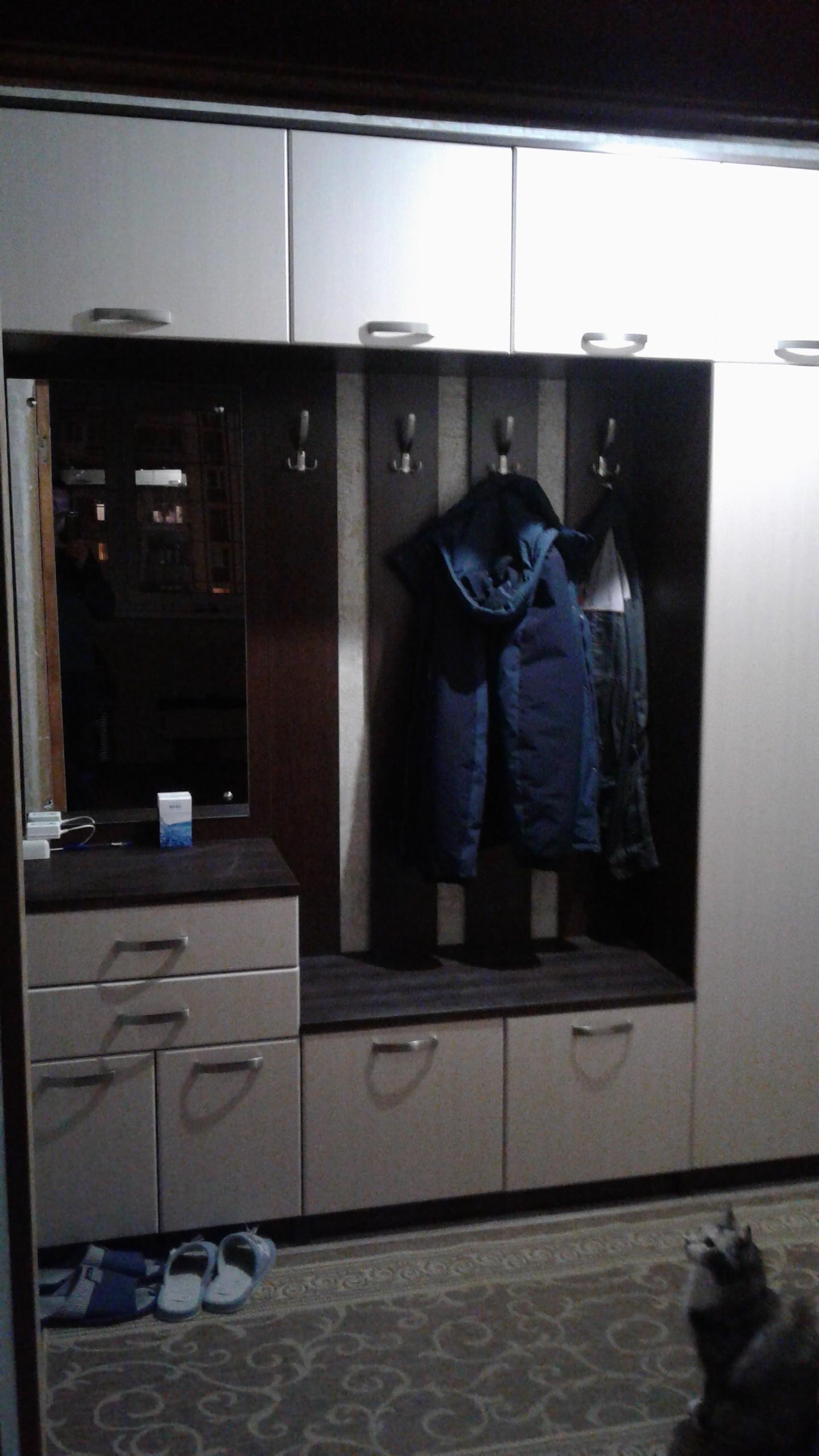 Шкаф с вешалкой в прихожую