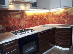 Кухня угловая стен. панель фотопечать